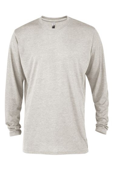 Value P603T Mens Tri-Blend Long Sleeve Crew Neck Tee