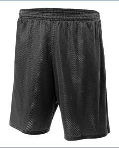 A4 N5296 Lined 9″ Inseam Tricot Mesh Shorts