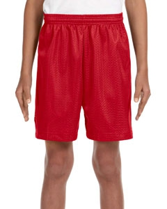 A4 NB5301 Youth 6″ Inseam Lined Tricot Mesh Shorts
