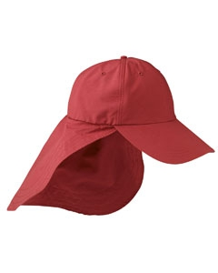 Adams EOM101 6-Panel UV Low-Profile Cap with Elongated Bill and Neck Cape