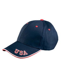 Adams NT102 6-Panel Mid-Profile Cap with USA Embroidery