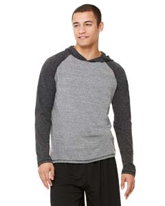 Alo Sport M3101 Men's Performance Triblend Long-Sleeve Hooded Pullover