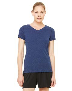 Alo Sport W1105 Ladies' Performance Triblend Short-Sleeve V-Neck T-Shirt