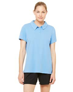 All Sport Ladies Performance Three-Button Mesh Polo