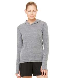 Alo Sport W3101 Ladies' Performance Triblend Long-Sleeve Hooded Pullover with Runner's Thumb