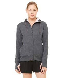 Alo Sport W4010 Ladies' Performance Fleece Full-Zip Hoodie with Runner's Thumb