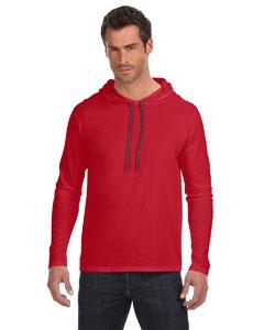 Anvil 987AN Lightweight Long-Sleeve Hooded T-Shirt