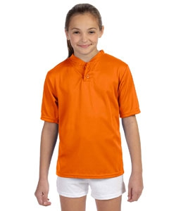 Augusta Sportswear 427 Youth Wicking Two-Button Jersey