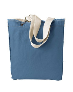 Authentic Pigment 1906 14 oz. Direct-Dyed Raw-Edge Tote
