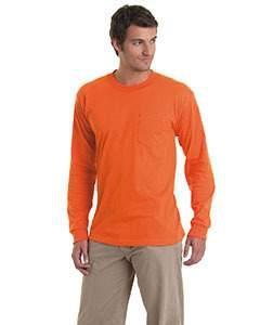 Bayside BA8100 Adult Long-Sleeve T-Shirt withPocket