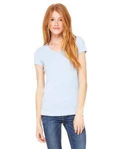Bella + Canvas 1005 Ladies' Stretch Rib Short-Sleeve V-Neck T-Shirt