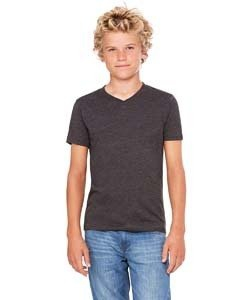 Bella + Canvas 3005Y Youth Jersey Short-Sleeve V-Neck T-Shirt