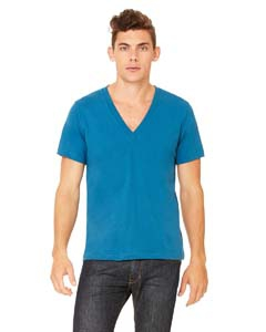 Bella + Canvas 3105 Unisex Jersey Short-Sleeve Deep V-Neck T-Shirt
