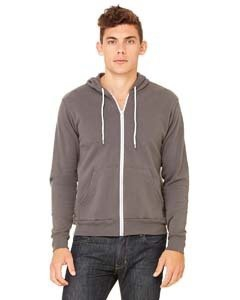 Bella + Canvas 3739 Unisex Poly-Cotton Fleece Full-Zip Hoodie
