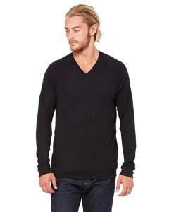 Bella + Canvas 3985 Unisex V-Neck Lightweight Sweater
