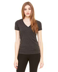 Bella + Canvas 6035U Ladies' Made in the USA Jersey Short-Sleeve Deep V-Neck T-Shirt