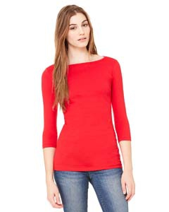 Bella + Canvas 6515 Ladies' Jersey Half-Sleeve Boatneck T-Shirt