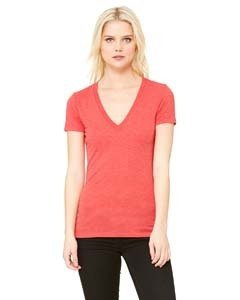 Bella + Canvas 8435 Ladies' Triblend Short-Sleeve Deep V-Neck T-Shirt