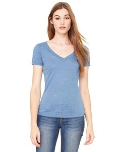 Bella + Canvas 8605 Ladies' Burnout Short-Sleeve V-Neck T-Shirt
