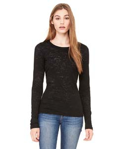 Bella + Canvas 8650 Ladies' Burnout Long-Sleeve T-Shirt