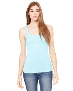 Bella + Canvas 8711 Ladies' Sheer Mini Rib Thin Strap Tank