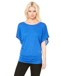 Bella + Canvas 8821 Ladies' Flowy Draped Sleeve Dolman T-Shirt