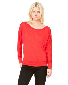 Bella + Canvas 8850 Ladies' Flowy Long-Sleeve Off Shoulder T-Shirt