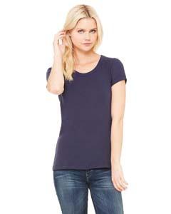 Bella + Canvas B1003 Ladies' Stretch Rib Short-Sleeve Scoop Neck T-Shirt