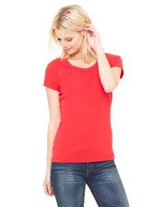 Bella + Canvas B1003 Ladies' Stretch Rib Short-Sleeve Scoop Neck T-Shirt