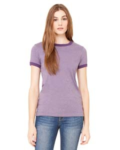 Bella + Canvas B6050 Ladies' Jersey Short-Sleeve Ringer T-Shirt