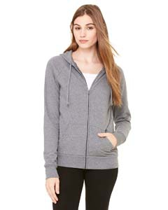 Bella + Canvas B7007 Ladies' Fleece Full-Zip Raglan Hoodie