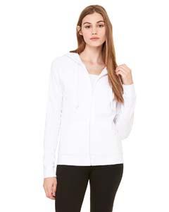 Bella + Canvas B7007 Ladies' Fleece Full-Zip Raglan Hoodie