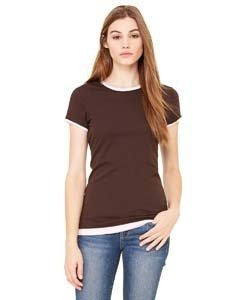 Bella + Canvas B8102 Ladies' Sheer Jersey Short-Sleeve 2-in-1 T-Shirt