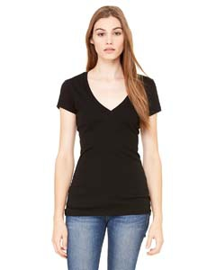 Bella + Canvas B8417 Ladies' Tissue Jersey Short-Sleeve Deep V-Neck T-Shirt