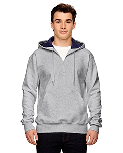 Champion S185 for Team 365 Cotton Max 9.7 oz. Quarter-Zip Hood