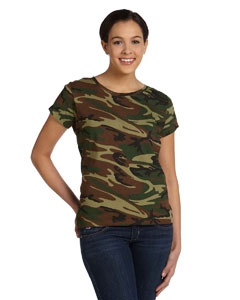 Code Five 3665 Ladies' Fine Jersey Camouflage T-Shirt