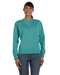 Comfort Colors C1596 Ladies' 10 oz. Garment-Dyed Wide-Band Fleece Crew