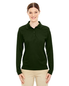 Core 365 78192 Ladies' Pinnacle Performance Long-Sleeve Piqué Polo