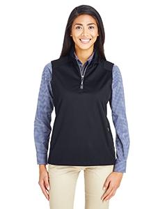 Core 365 CE709W Ladies' Techno Lite Three-Layer Knit Tech-Shell Quarter-Zip Vest