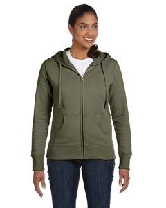 econscious EC4501 Ladies' 9 oz. Organic/Recycled Full-Zip Hood