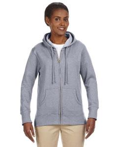 econscious EC4580 Ladies' 7 oz. Organic/Recycled Heathered Fleece Full-Zip Hood