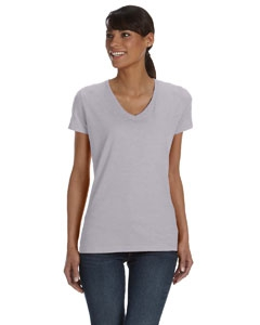 Fruit of the Loom L39VR Ladies' 5 oz., 100% Heavy Cotton HD® V-Neck T-Shirt