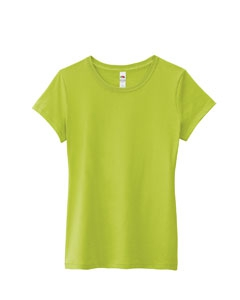 Fruit of the Loom SSFJR Ladies' 4.7 oz., 100% Sofspun Cotton Jersey Junior Crew T-Shirt