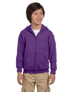 Gildan G186B Heavy Blend Youth 8 oz., 50/50 Full-Zip Hood