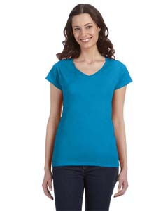 Gildan G64VL SoftStyle® Ladies' 4.5 oz. Junior Fit V-Neck T-Shirt