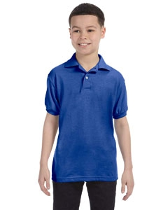 Hanes 054Y Youth 5.2 oz., 50/50 ComfortBlend® EcoSmart® Jersey Knit Polo