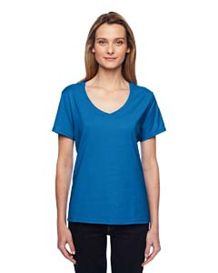 Hanes 42V0 Ladies' Xtemp Performance V-Neck T-Shirt