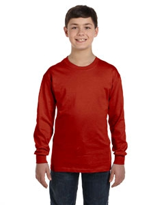 Hanes 5546 Youth 6.1 oz. Tagless® ComfortSoft® Long-Sleeve T-Shirt