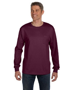 Hanes 5596 6.1 oz. Tagless® ComfortSoft® Long-Sleeve Pocket T-Shirt