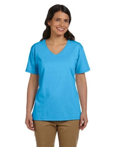 Hanes 5780 Ladies' 5.2 oz. ComfortSoft® V-Neck Cotton T-Shirt